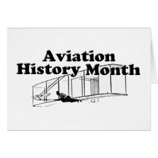 Luftfahrt-Geschichtsmonat Karte