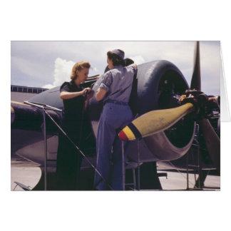 Luftfahrt-Mechaniker der Frauen-WW2 Karte