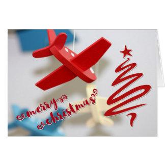 Luftfahrt-Weihnachten Karte