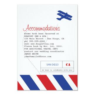 Luftpost-Reise-und Hotel-Einsatz-Karte 8,9 X 12,7 Cm Einladungskarte