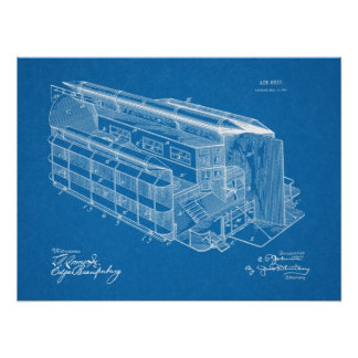 Luftschiff-Flugzeug-Patent-Kunst 1903, die Druck Poster