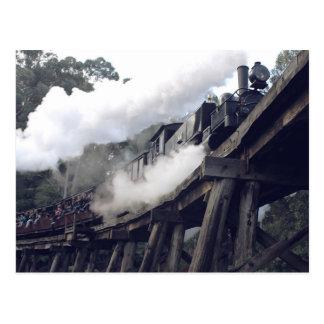 Luftstoßender Billy-Dampf-Zug Postkarte