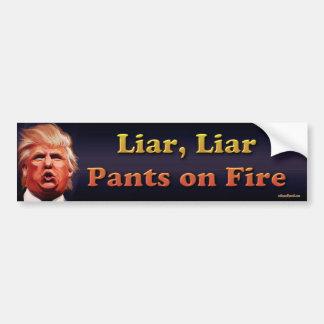 Lügner, Lügner, Hosen auf Feuer Autoaufkleber