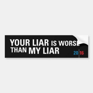 Lügner-Lügner/politischer Autoaufkleber