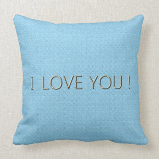 Lumbale u. quadratische Größen Love-Baby-Blue* Kissen