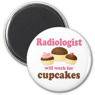 Lustig arbeitet für Kuchen-Radiologeen Runder Magnet 5,1 Cm