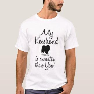 Lustig ist mein Keeshond-Hund intelligenter als T-Shirt