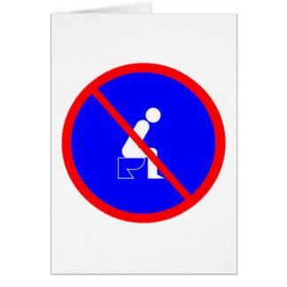 Lustig kein Sitzen auf Karte
