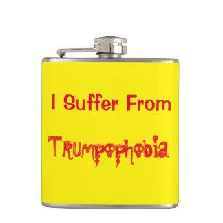 Lustig leide ich unter Trumpophobia! Flachmann