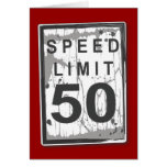 Lustige 50. Geburtstags-Höchstgeschwindigkeits-Kar Karte