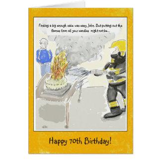 Lustige 70. Geburtstags-Karte für Männer: Kerzen… Karte