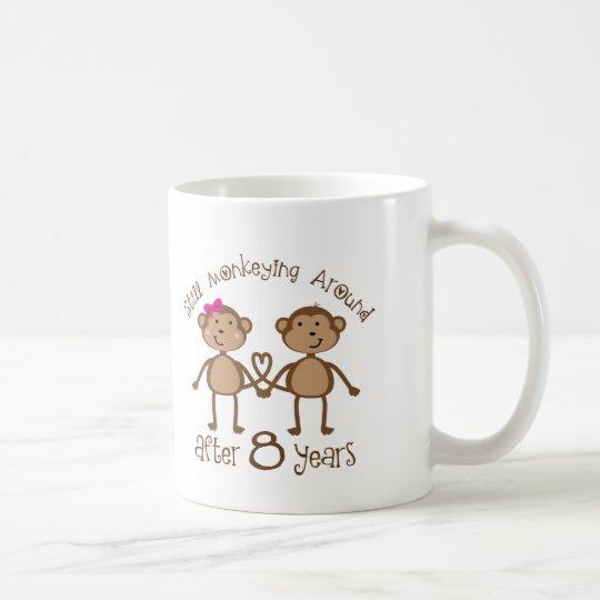 Lustige 8 Hochzeitstag Geschenke Tasse Zazzleat