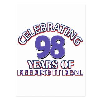 Lustige 98. Geburtstagsentwürfe Postkarte
