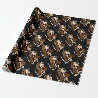 Lustige Basset Hound-Hundekunst Geschenkpapier