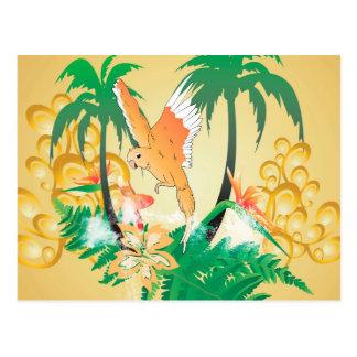Lustige Budgerigars Postkarte