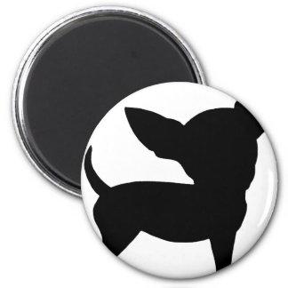 Lustige Chihuahua Runder Magnet 5,7 Cm