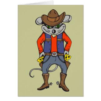 Lustige Cowboy-Maus Karte