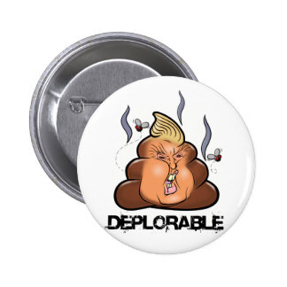 Lustige Donald- Trump - Trumpy-PooPoo Emoji Ikone Runder Button 5,1 Cm