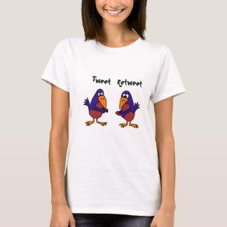 Lustige Drosseln simsen Cartoon T-Shirt