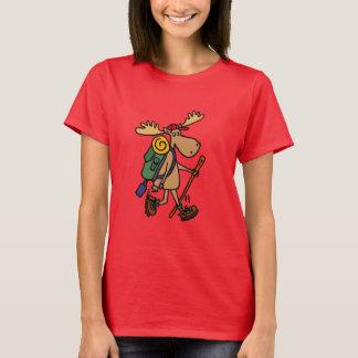 Lustige Elche, die Shirt wandern