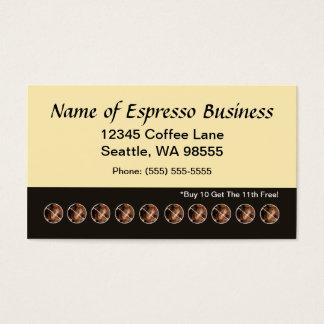Lustige Espresso-Lochkarte-Kaffeebohnen Visitenkarten