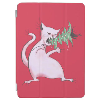 Lustige fette weiße Katze isst Weihnachtsbaum iPad Air Hülle