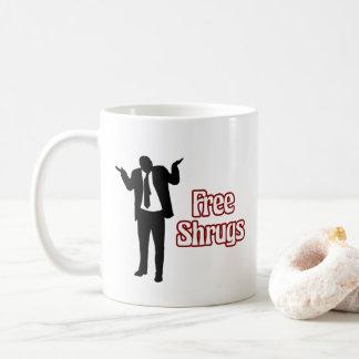 Lustige freie Shrugs-Kaffee-Tasse Tasse