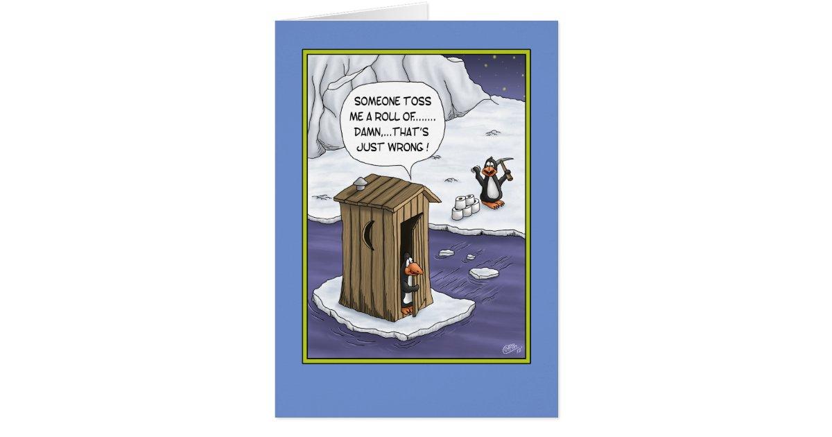 lustige geburtstagskarten pinguin streiche karte. Black Bedroom Furniture Sets. Home Design Ideas