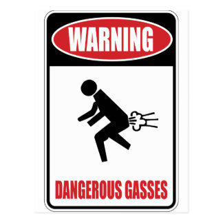 Lustige gefährliche Gase Postkarte