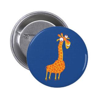 Lustige Giraffe Runder Button 5,1 Cm