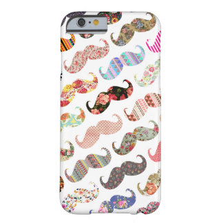Lustige Girly bunte Muster-Schnurrbärte Barely There iPhone 6 Hülle