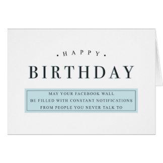 Lustige glückliche Geburtstagskarten Karte