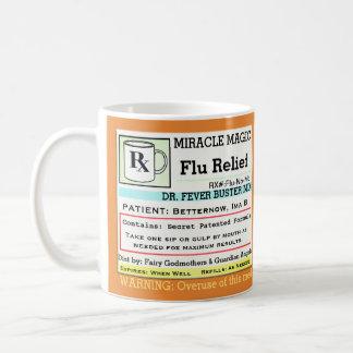 Lustige Grippe-Medizin der Verordnungs-RX Tasse