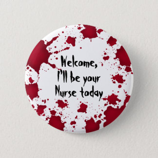 Lustige Halloween-Krankenschwester Runder Button 5,7 Cm