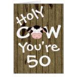 Lustige heilige Kuh sind Sie ein 50 Geburtstags-Gr Grußkarte