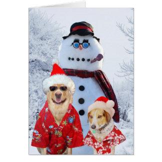 Lustige Hundecooles Weihnachten Grußkarte