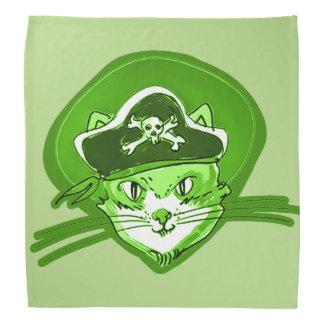 lustige Illustration der Katzenpiraten-Cartoon-Art Kopftuch
