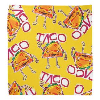 lustige Illustration der Taco-Cartoon-Art Halstuch