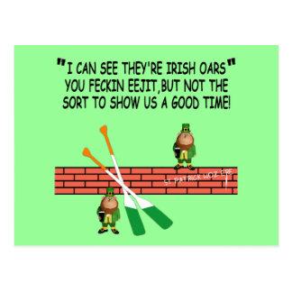 Lustige irische Kobolde Postkarte
