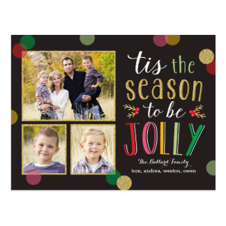 Lustige Jahreszeit-Feiertags-Foto-Karten-Postkarte Postkarte