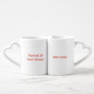 Lustige jährliche Jahrestags-Tassen Liebestassen