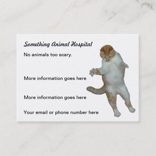 Lustige Katze Tierarzt Tierarzt Visitenkarten Visitenkarte