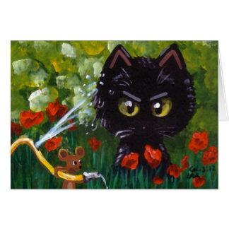 Lustige Katze und Maus Creationarts Lisa R Adams Karte