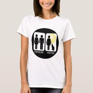 Lustige Katzen-Dame T-Shirt