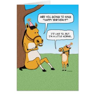 Lustige kleine Pferdegeburtstags-Karte Grußkarte