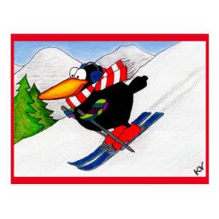 Lustige Skifahren Postkarten Zazzleat
