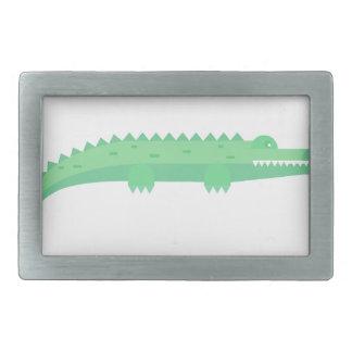 Lustige Krokodil-nahtloses Muster Rechteckige Gürtelschnalle