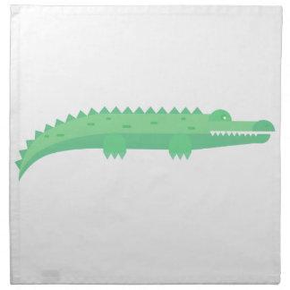 Lustige Krokodil-nahtloses Muster Serviette