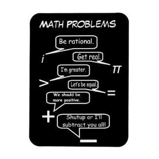 Lustige mathematische Probleme Magnet