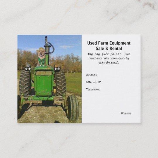 Lustige Niedliche Benutzte Landwirtschaftliche Visitenkarte